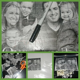How to Mod Podge a family puzzle
