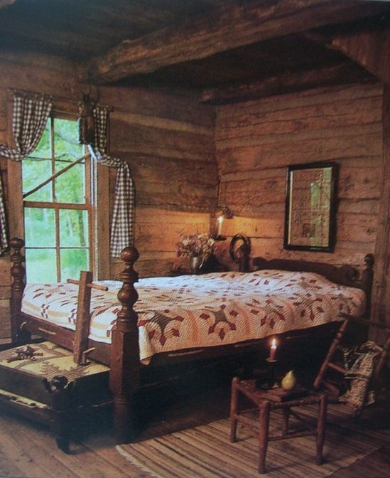 Rustic Cabin Bedroom...