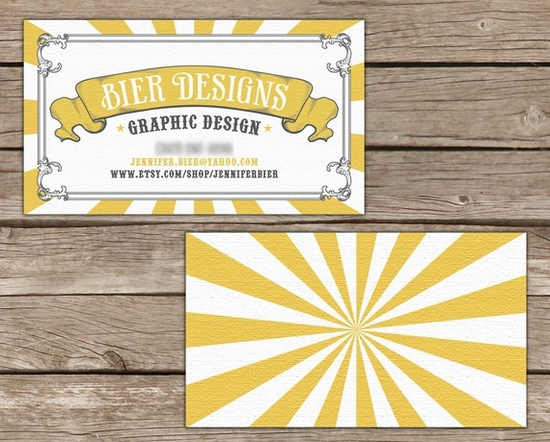 Vintage Circus Business Cards