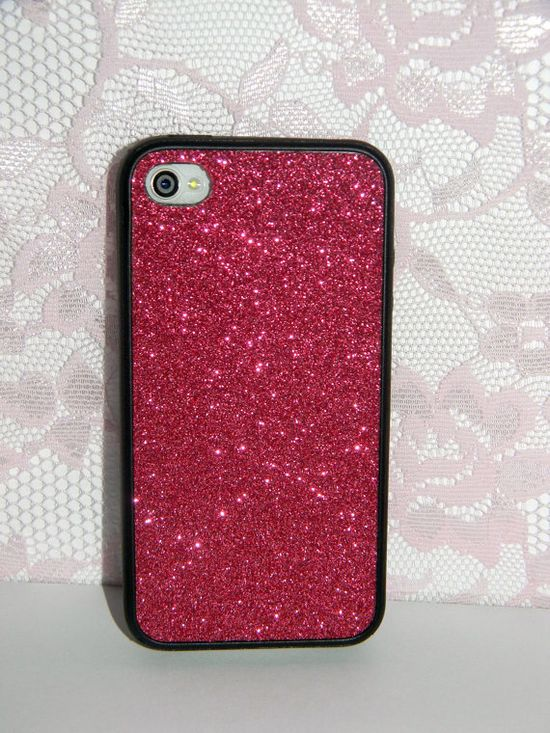 Real Glitter iPhone Case - iPhone 4/4s Case, iPhone 5 Case, Glitter iPhone Case in teal