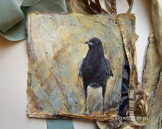 unfinished journal cover ~ great crow ~ by DJ Pettitt