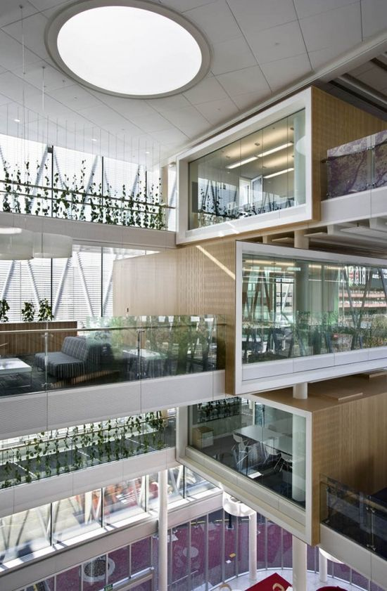 Stacked Meeting Rooms #architecture #architect #design #amazing #build #create #creative #interior #exterior #modern #dreamhome #dreamhouse #home #house #luxury