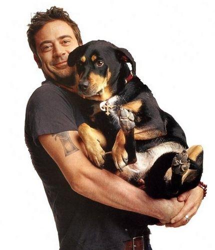 Jeffrey Dean Morgan and dog