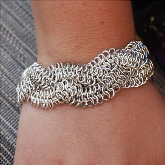 Intricate braided chainmaille bracelet.....love this, just might have to give this one a shot!!!