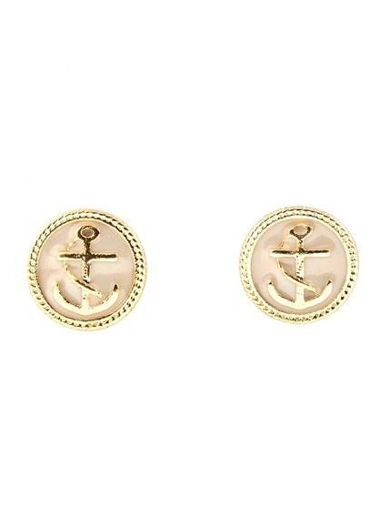 Anchor stud earrings.