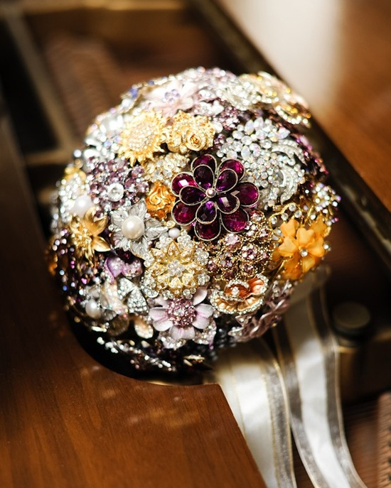 Another spectacular example of a vintage brooch bouquet.  And completely outside my price range.  But oh, I love it so!
