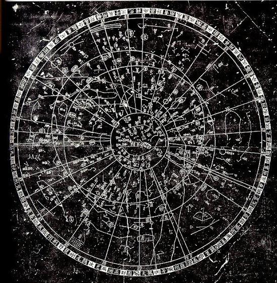 Chinese Star Map circa 16th century AD