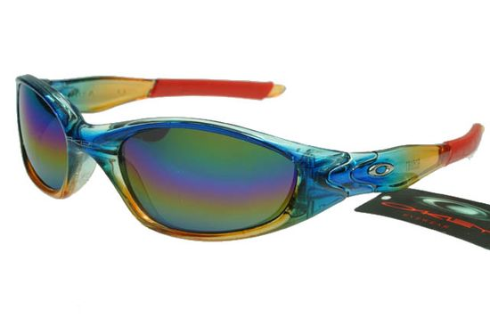 Oakley Active Sunglasses Red Yellow Blue Frame Rainbow Lens 0051