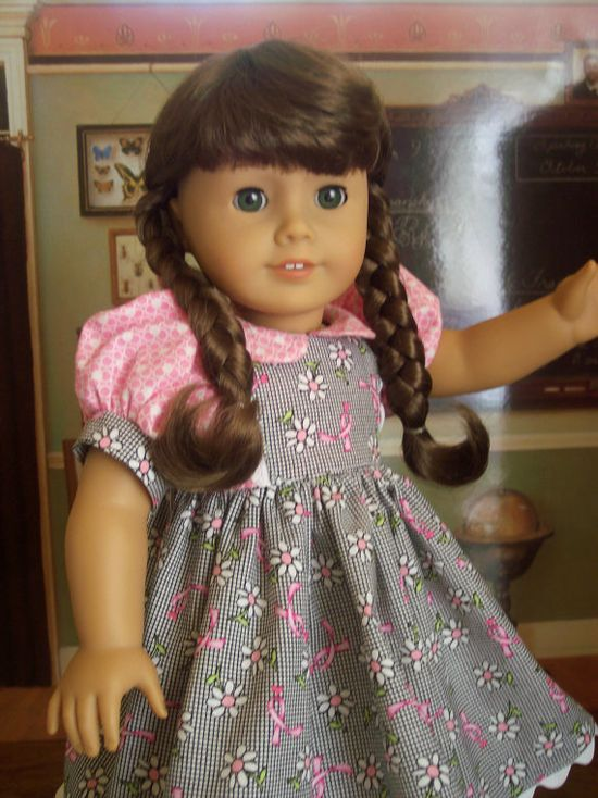 American Girl Doll DressBreast Cancer Awareness18 by catsdesigns, $18.00