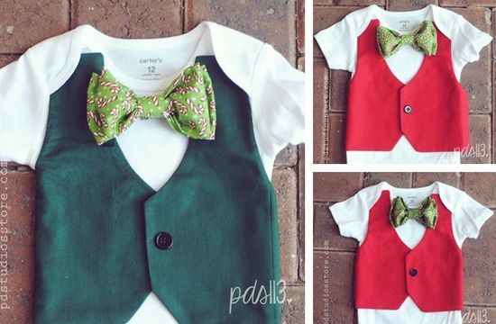 Holiday Baby Boy Vest Bodysuits 40% off at Groopdealz