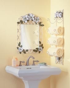 """Yes, you really can turn your bathroom into a gorgeous Shabby Chic retreat!    The term """"shabby chic"""" was made popular by Rachel Ashwell's 1996 book, """"Shabby Chic,"""" and it refers to a distressed, vintage look. This type of Shabby Chic home decor can be described as original yet traditional; plain yet decorative; relaxed yet stylish;"""