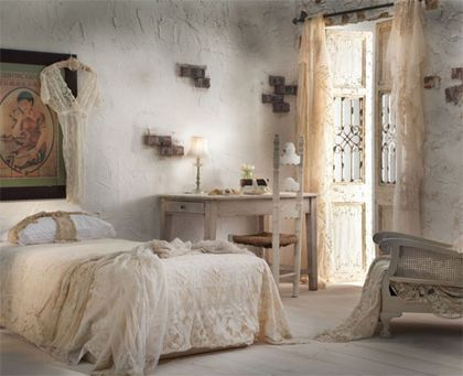 shabby chic #bedroom #interiors #romantic