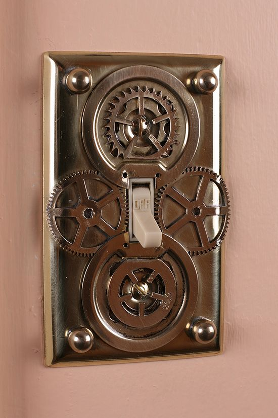 Steampunk Light Switch Cover - DIY <-- Oh, yeah!