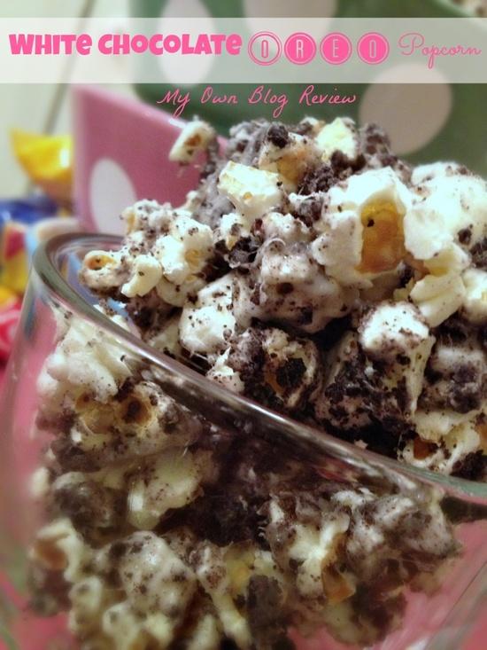 White Chocolate Oreo Popcorn