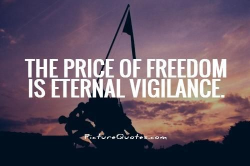 100 Eternal Vigilance The Price Of Freedom Ideas We The People Freedom Sayings