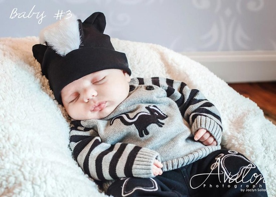 Skunk baby #3.   #Cute #Baby #Outfit #StJude #Photography #Lima #Ohio