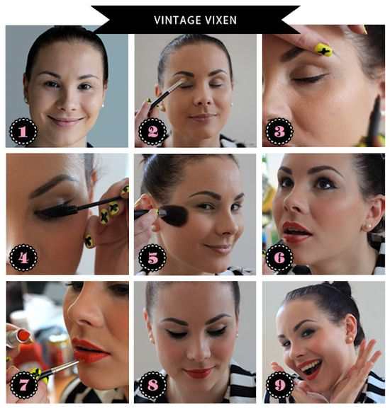 Vintage style makeup for the Thanksgiving