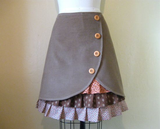 Days of Heaven ruffle front skirt Sz 8 via Etsy