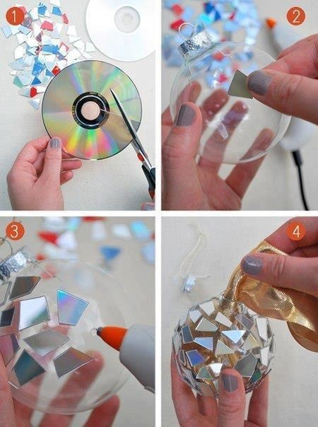 AHA break a CD use some glue get clear something wahlaa you have yourself a fabulous piece of art!