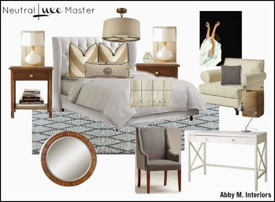 Abby M. Interiors: Neutral Master Bedroom design