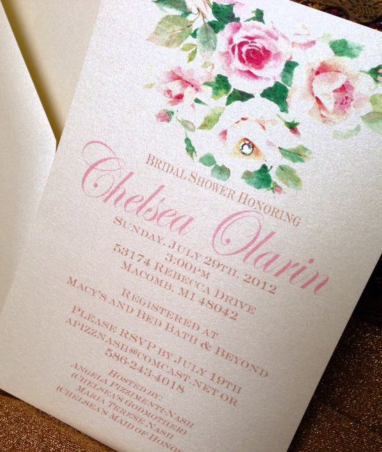 Vintage style invitation design by Charm