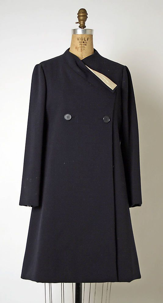 Dress (Coatdress)  Geoffrey Beene  (American, 1927–2004)  Date: late 1960s–early 1970s Culture: American Medium: wool, silk