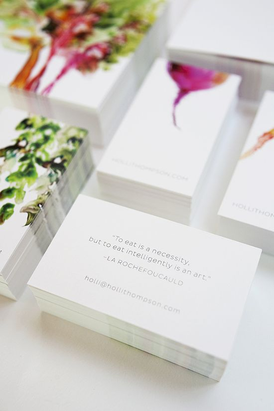 simple + pretty business cards