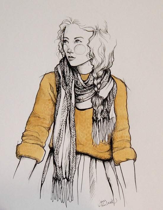 $20.00 of the selling price goes directly to orphans in India. City Girl illustration. $25.00, via Etsy.