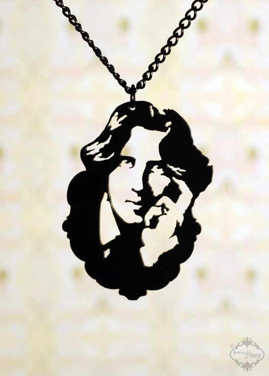 Oscar Wilde Homage Portrait Necklace $32.00