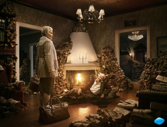 Winter is coming to Finland - with the local Viagra print ad