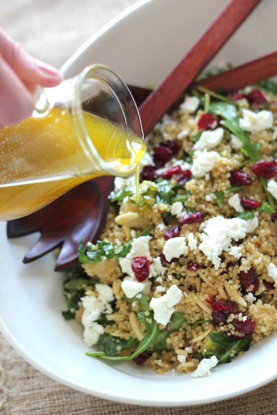 Toasted quinoa and pear salad