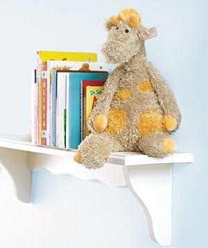 take stuffing out of old stuffies and replace with beans for a sturdy bookend