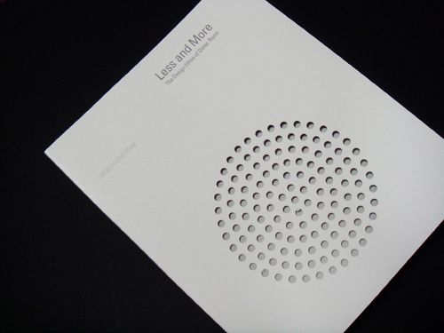 Less and More / The Design Ethos of Dieter Rams