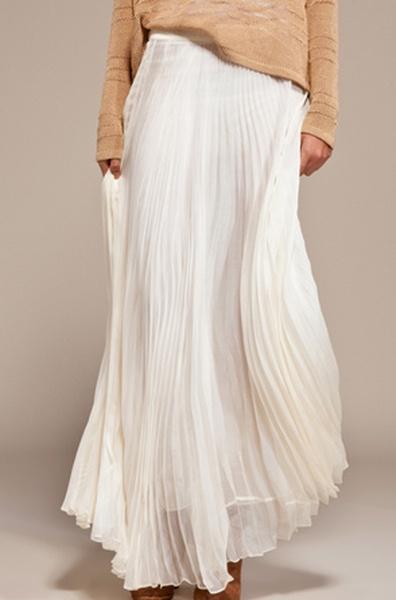 Maxi Desert Skirt in Ivory