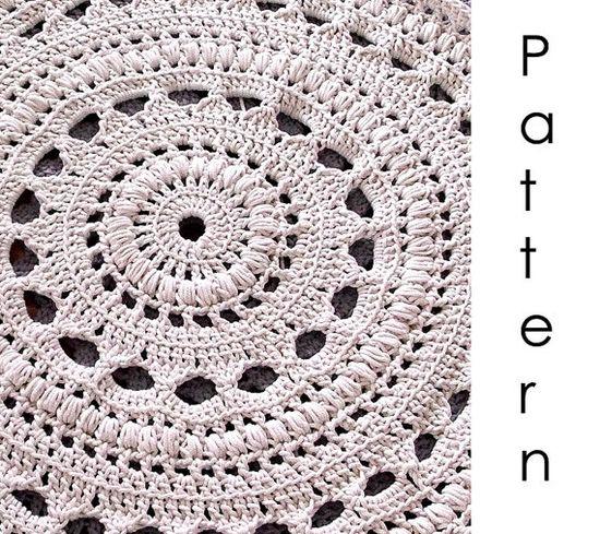 Crochet pattern Pdf- doily crochet rug  RUG