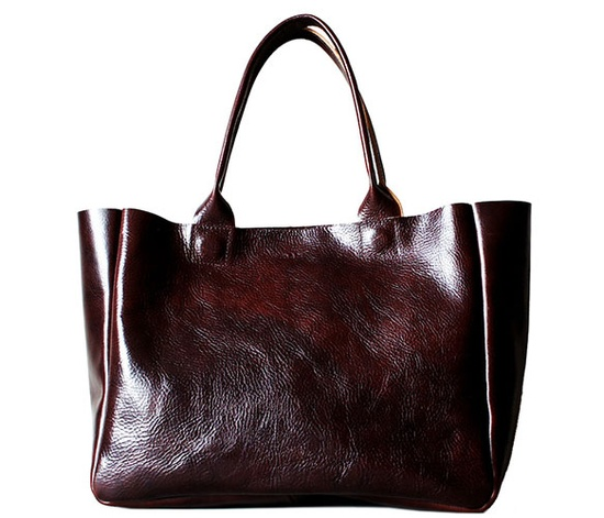 Classic leather tote.