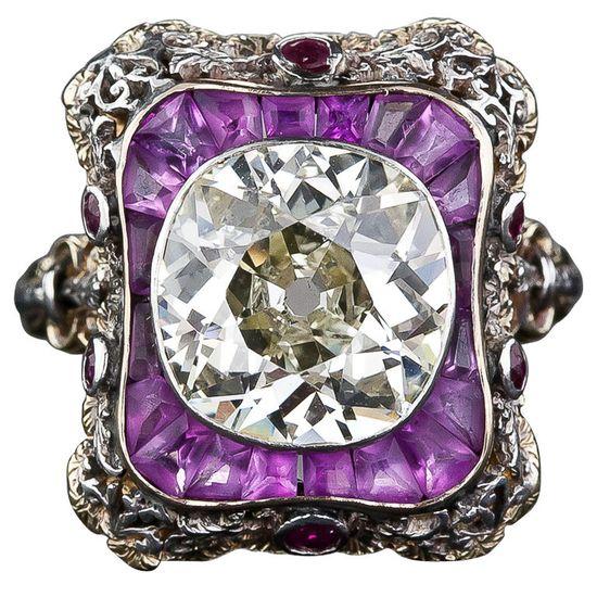 Extraordinary Antique Diamond Ring $44,000