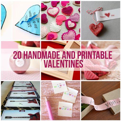 20 handmade printable valentines