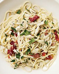 Angel-Hair Pasta with Crab and Country Ham Recipe from Food & Wine