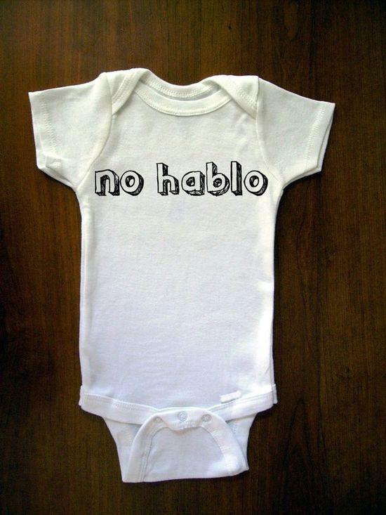 No Hablo onesie