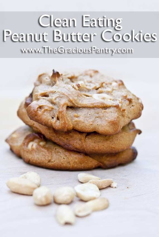 Clean Eating Peanut Butter Cookies