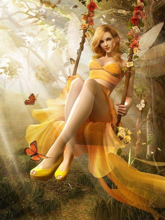 In the golden forest - by Soa Lee - soanala_com