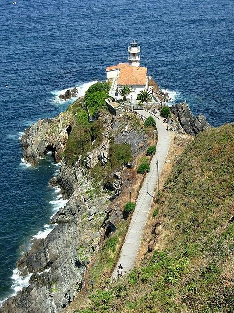El camino al faro  Cudillero Astúrias