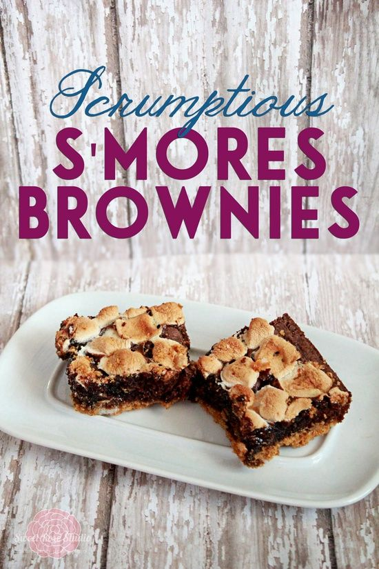 Scrumptious S'Mores Brownies from Sweet Rose Studio #baking #recipe #health food #better health solutions