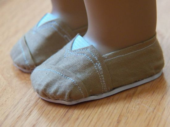 Tan Inspired TOMS for American Girl Dolls