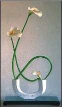 Ikebana flower arrangment - simple 3 blooms!