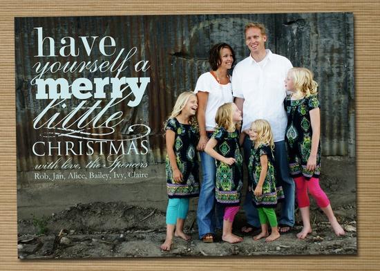 """Photo Christmas Card, Holiday Card: PRINTABLE (""""Merry Little Christmas"""" Christmas custom card)"""