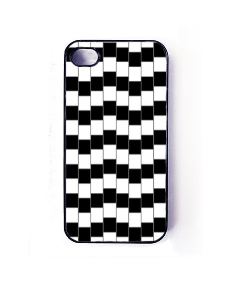 Stripes, optical illusion iPhone 4 and iPhone 4s case, iPhone 4 and 4s cover. $15.99, via Etsy.