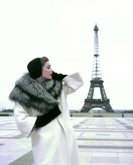 Georges Dambier,Suzy Parker Tour Eiffel, Elle, Givenchy, Paris