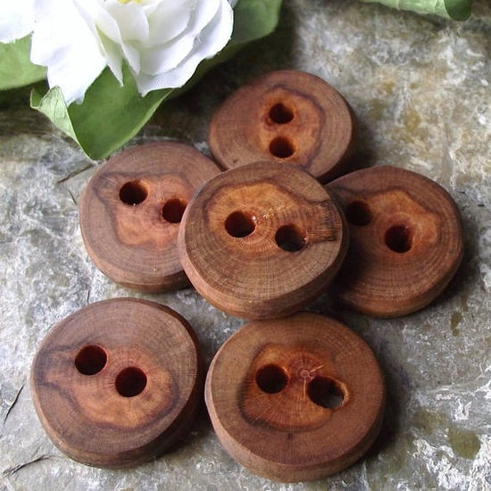 rustic wooden buttons